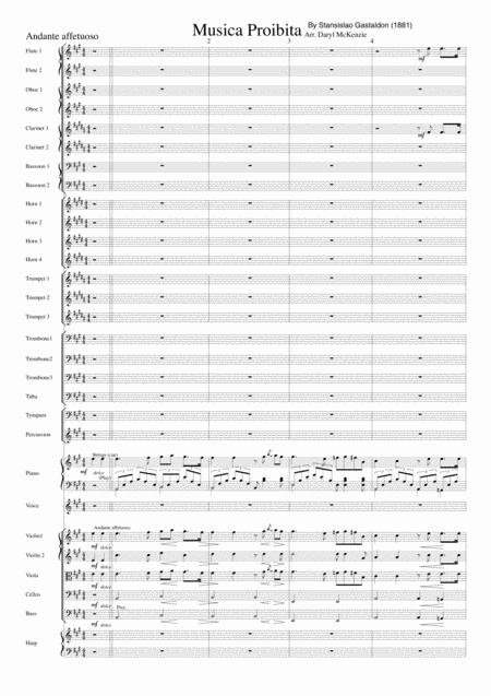 Musica Proibita - Tenor Voice and Orchestra