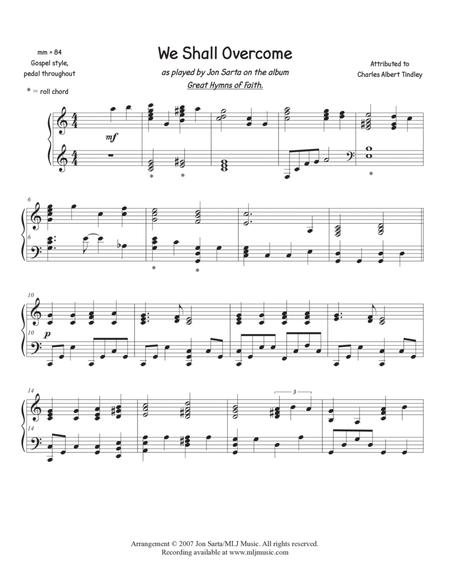 Download We Shall Overcome Sheet Music By Charles Albert Tindley