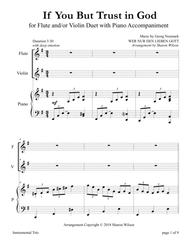 If You But Trust in God to Guide You (for Flute and/or Violin Duet with Piano accompaniment)
