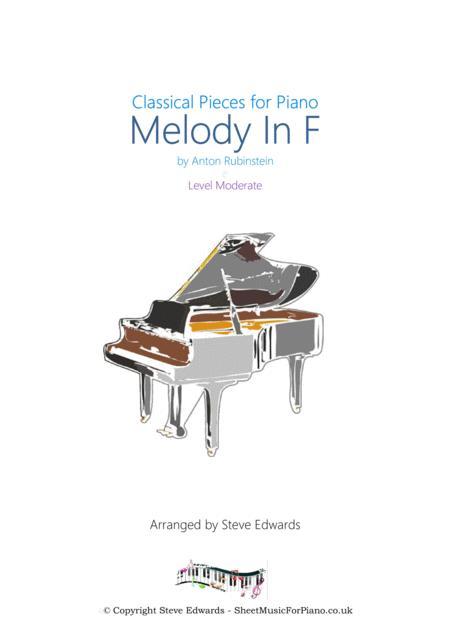 Melody In F - Moderate piano solo