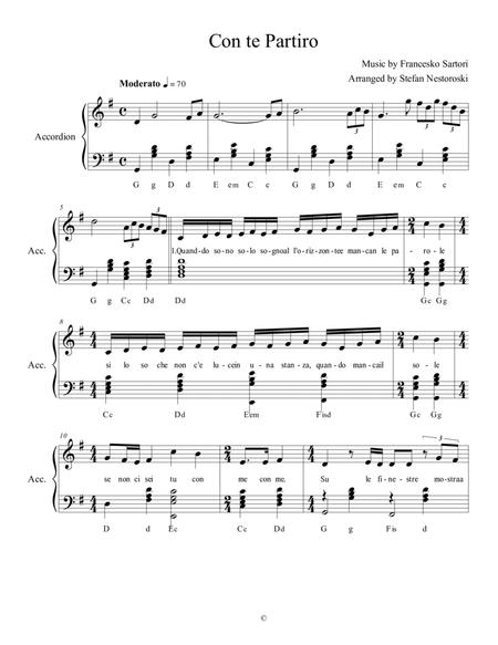 time to say goodbye piano sheet music easy