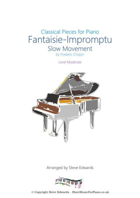 Fantaisie-Impromptu Slow Movement (I'm Always Chasing Rainbows) Moderate Piano Solo