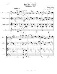 Haydn Finale from Sonata #1 in Eb for Clarinet Quartet