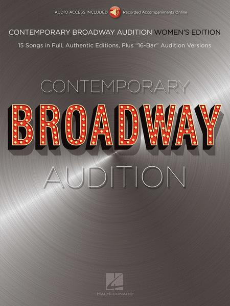 Contemporary Broadway Audition: Women's Edition - Book/Online Audio
