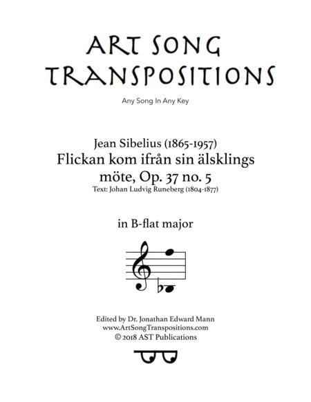 Flickan kom ifrån sin älsklings möte, Op. 37 no. 5 (B-flat major)