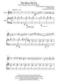 You Raise Me Up - violin and piano (intermediate, w/ part scores)