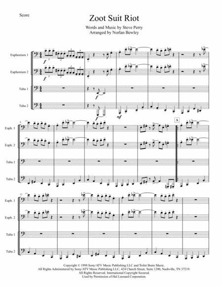 Zoot Suit Riot - Tuba/Euphonium Quartet