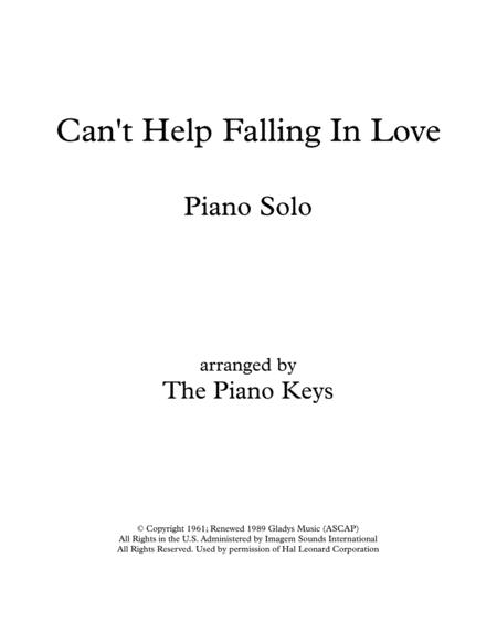 Can't Help Falling In Love Piano Solo