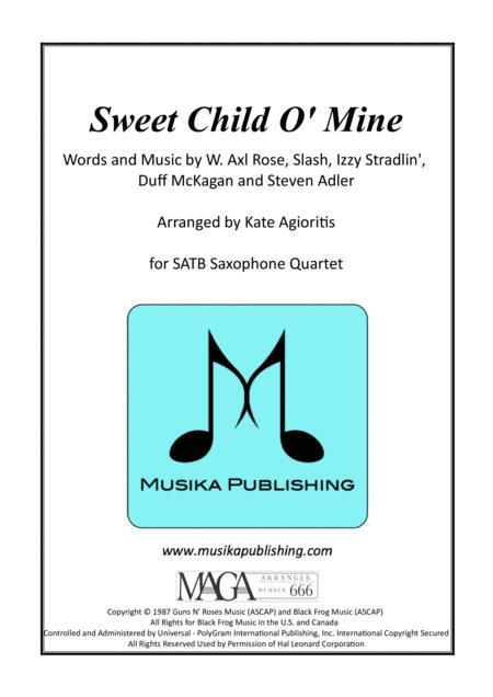 Sweet Child O' Mine - Saxophone Quartet