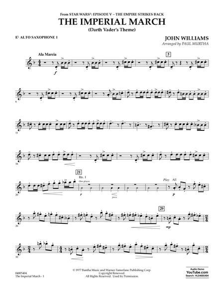 The Imperial March (Darth Vader's Theme) - Eb Alto Saxophone 1