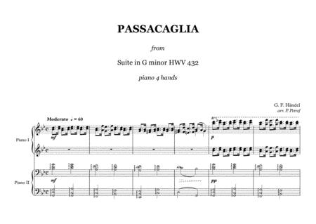 G. F. Haendel - PASSACAGLIA G minor - 1 piano 4 hands