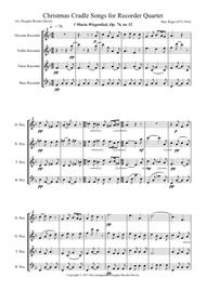 Christmas Cradle Songs for Recorder Quartet