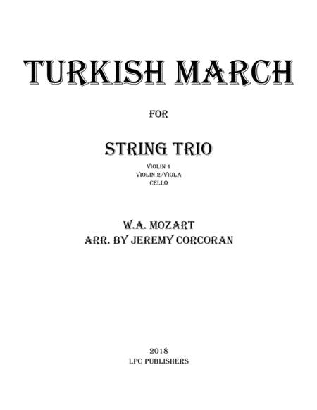 Turkish March for String Trio