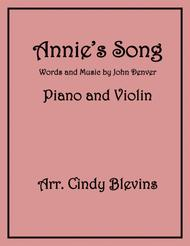 Annie's Song, arranged for Piano and Violin