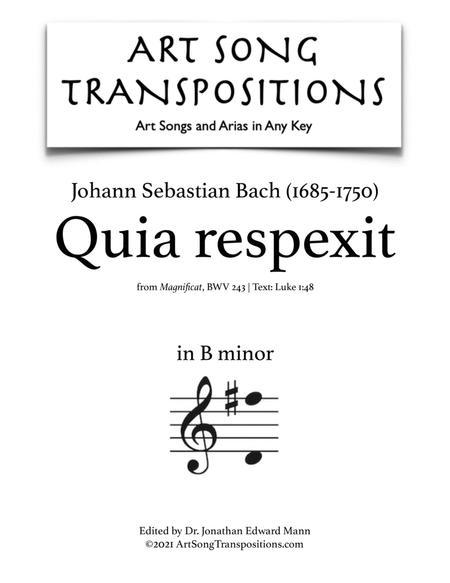 Quia respexit, BWV 243 (B minor)