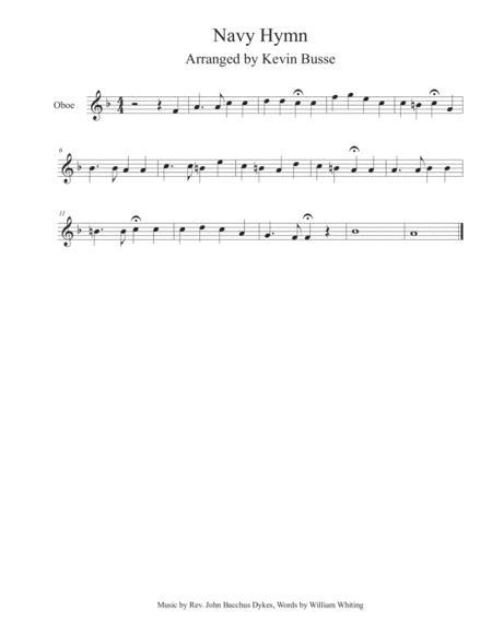 Navy Hymn - Oboe