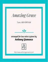 Amazing Grace (low voice and piano)