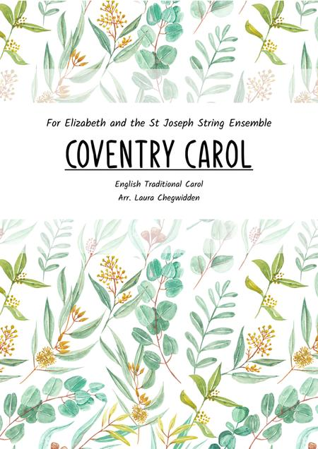 Coventry Carol for Beginner String Orchestra