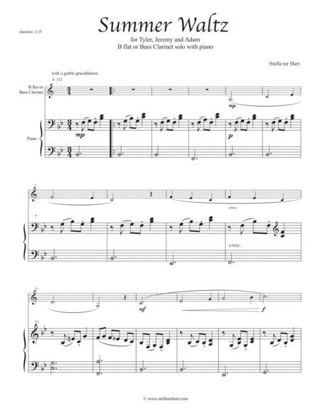 Summer Waltz - Junior Clarinet solo with piano accompaniment