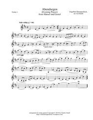Evening Prayer - from Hänsel und Gretel - set of parts