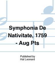 Symphonia De Nativitate, 1759 - Aug Pts