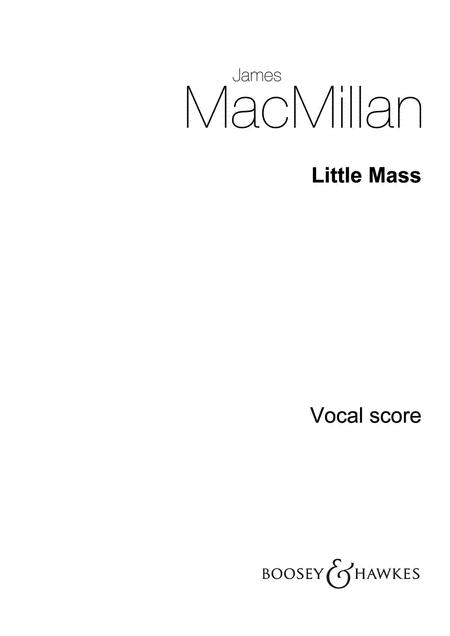 Little Mass - Children's Chorus And Orchestra - Choral/piano Reduction