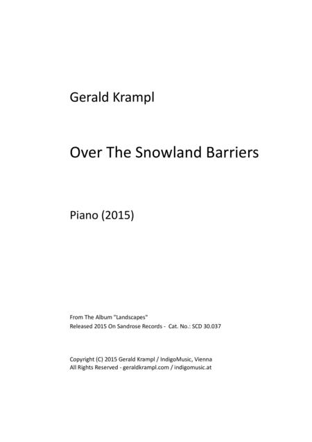Over The Snowland Barriers
