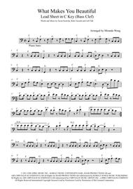 What Makes You Beautiful Lead Sheet For Trombone And Piano By One Direction Digital Sheet Music For Lead Sheet Set Of Parts Sheet Music Single Download Print H0 310479 221034 Sheet