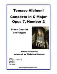 Albinoni Concerto in C Major Opus 7, Number 2 -  Brass Quartet and Organ