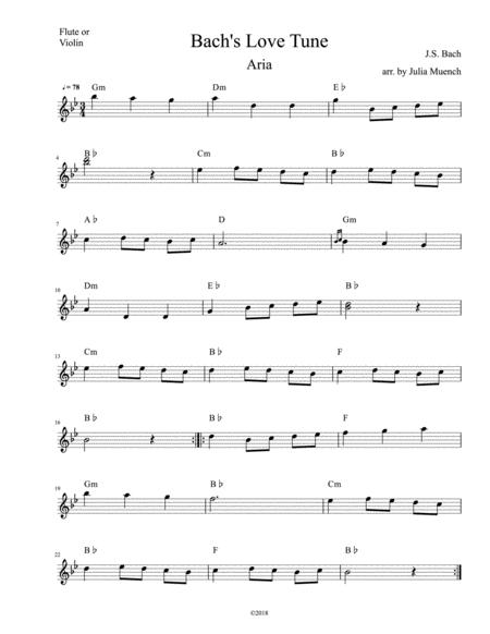 Download Minuet In G For Flute With Chord Symbols Sheet Music By
