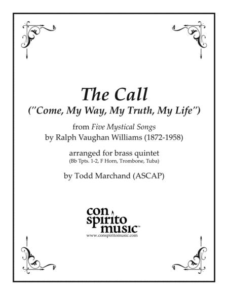 The Call (Come, My Way, My Truth, My Life) - brass quintet