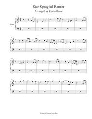 Star Spangled Banner Whitney Houston Version Piano By Digital Sheet Music For Easy Piano Download Print S0 310787 From Kevin Busse Self Published At Sheet Music Plus