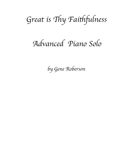 Download Great Is Thy Faithfulness Piano Solo Sheet Music By Runyan