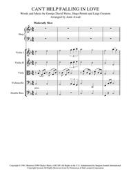Can't Help Falling In Love - Arranged for Solo Harp and Strings Orchestra/ Quartet