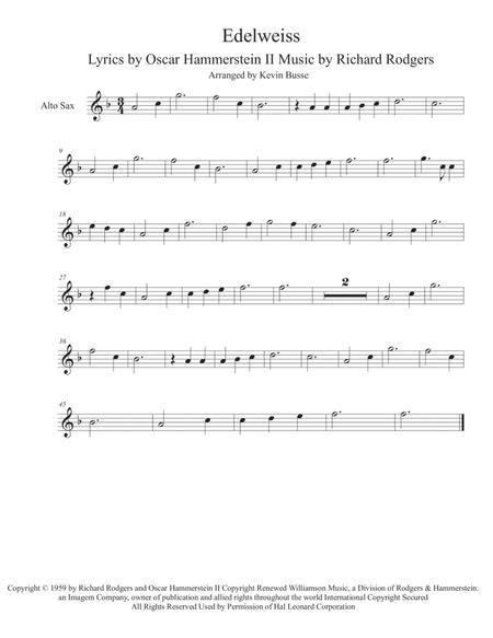 Edelweiss - Alto Sax