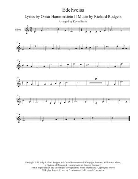 Edelweiss - Oboe
