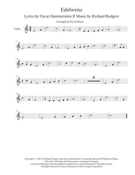 Edelweiss - Violin