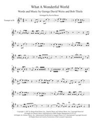What A Wonderful World Trumpet By Louis Armstrong Digital Sheet Music For Individual Part Sheet Music Single Solo Part Download Print H0 312125 915947 Sheet Music Plus