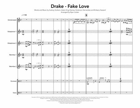Fake Love (Drake) for Percussion Ensemble