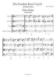 Gordian Knot Unty'd - Henry Purcell - Complete Conductors Score and Parts
