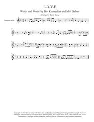 Download L-O-V-E - Trumpet Solo Sheet Music By Nat