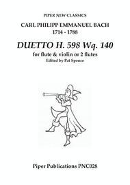 C.P.E. BACH DUETTO FOR FLUTE & VIOLIN H. 598 Wq. 140