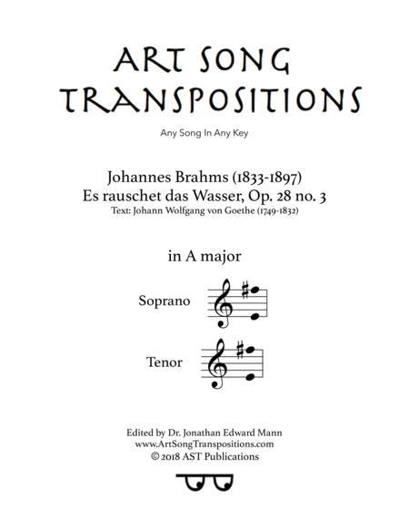 Es rauschet das Wasser, Op. 28 no. 3 (A major)