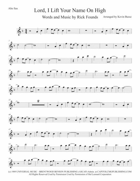 Download Lord I Lift Your Name On High Alto Sax Sheet Music By