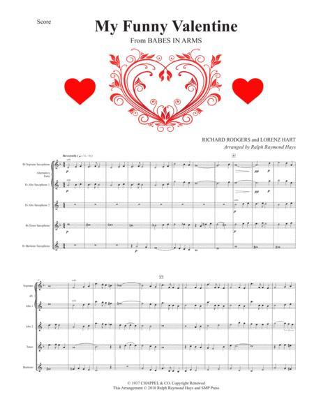My Funny Valentine (for saxophone quartet)
