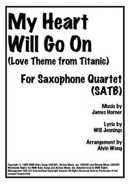 My Heart Will Go On (Original Key) - Saxophone Quartet