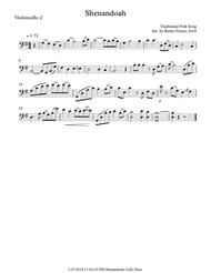 Shenandoah for Cello Duet