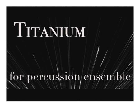 Titanium (David Guetta) for Percussion Ensemble