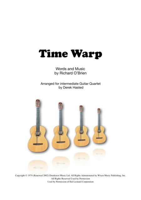 Time Warp for intermediate guitar quartet