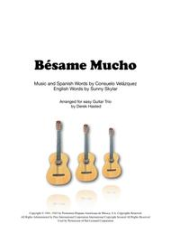 Besame Mucho for Guitar Trio